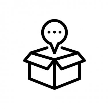 Carton icon for website design and desktop envelopment, development. premium pack. icon