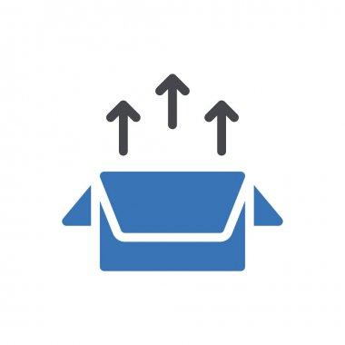 Package icon for website design and desktop envelopment, development. premium pack. icon