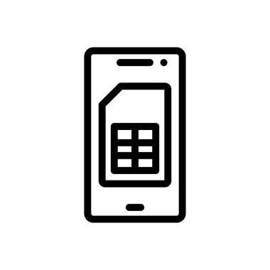Sim icon for website design and desktop envelopment, development. premium pack. icon