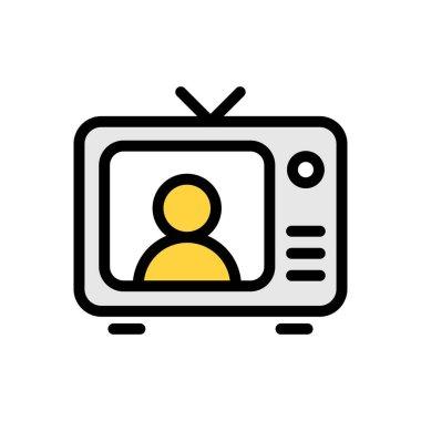 Television icon for website design and desktop envelopment, development. premium pack. icon