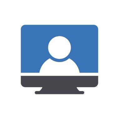 Screen icon for website design and desktop envelopment, development. premium pack. icon