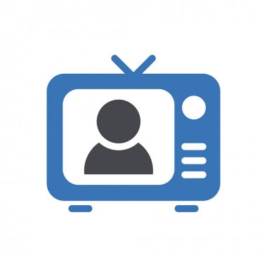 Television icon for website design and desktop envelopment, development. premium pack. icon