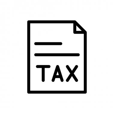 Tax icon for website design and desktop envelopment, development. premium pack. icon