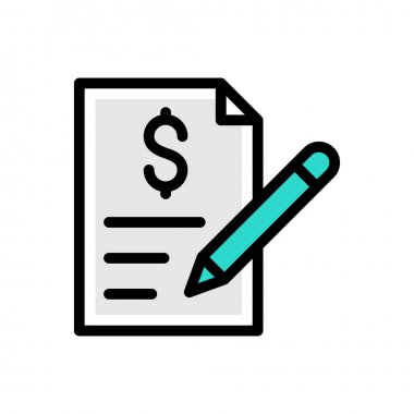 Invoice icon for website design and desktop envelopment, development. premium pack. icon