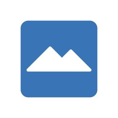 Hills icon for website design and desktop envelopment, development. premium pack. icon
