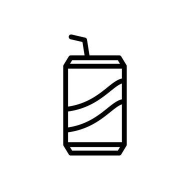 Drink vector thin line icon icon