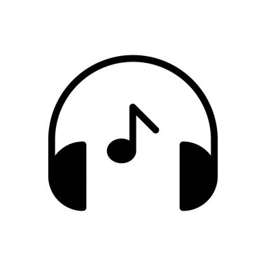 Headphone music icon for website and Apps design and desktop envelopment, development and Printing. Premium pack. icon