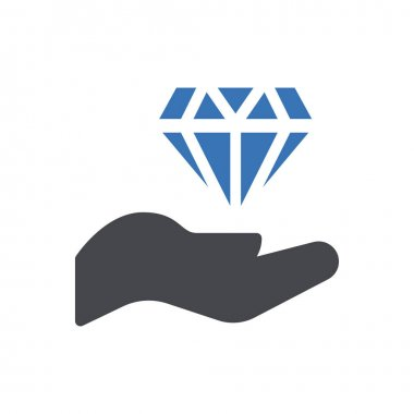 Diamond hand icon for website and Apps design and desktop envelopment, development and Printing. Premium pack. icon
