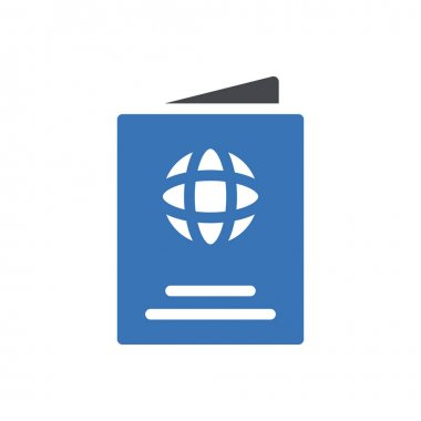 Passport icon for website and Apps design and desktop envelopment, development and Printing. Premium pack. icon