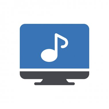 Music screen icon for website and Apps design and desktop envelopment, development and Printing. Premium pack. icon