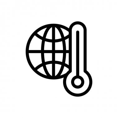Temperature earth icon for website and Apps design and desktop envelopment, development and Printing. Premium pack. icon