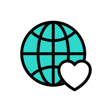Favorite earth icon for website and Apps design and desktop envelopment, development and Printing. Premium pack. icon
