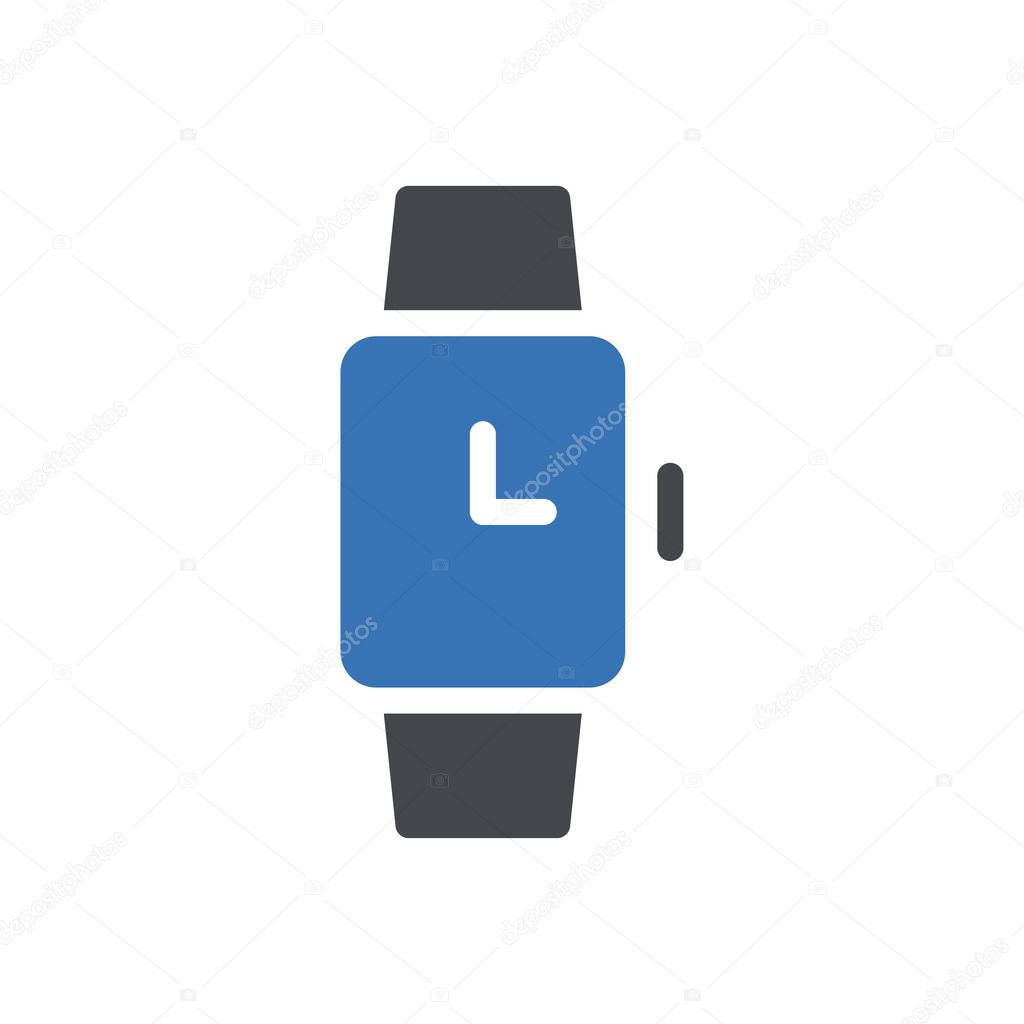 Wristwatch icon for website and Apps design and desktop envelopment  development and Printing icon