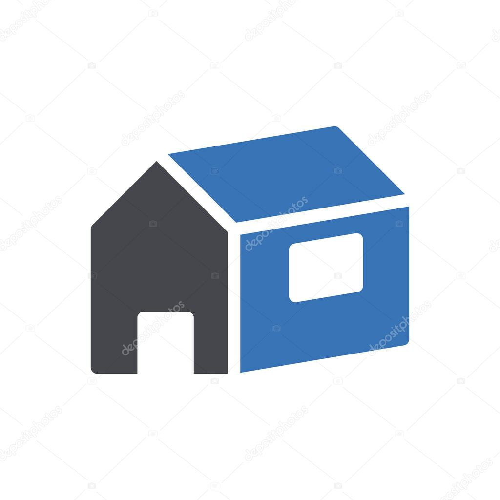 House icon for website and Apps design and desktop envelopment  development and Printing icon