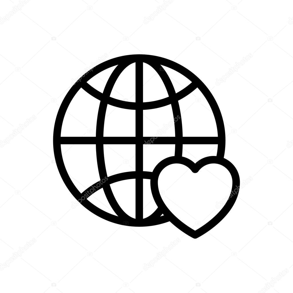Favorite earth icon for website and Apps design and desktop envelopment  development and Printing icon