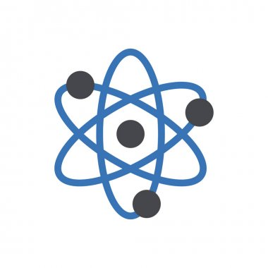 Science atom icon for website and Apps design and desktop envelopment, development and Printing. Premium pack. icon