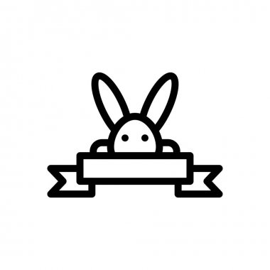 Rabbit banner icon for website and Apps design and desktop envelopment, development and Printing. Premium pack. icon