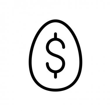 Egg dollar icon for website and Apps design and desktop envelopment, development and Printing. Premium pack. icon