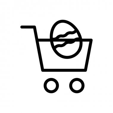 Easter cart icon for website and Apps design and desktop envelopment, development and Printing. Premium pack. icon