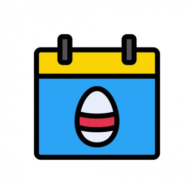 Calendar Easter icon for website and Apps design and desktop envelopment, development and Printing. Premium pack. icon
