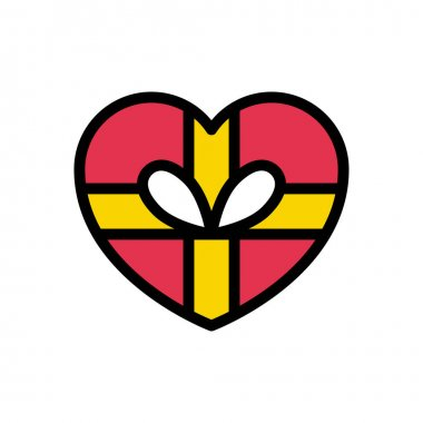 Heart present icon for website and Apps design and desktop envelopment, development and Printing. Premium pack. icon
