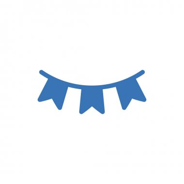 Buntings icon for website and Apps design and desktop envelopment, development and Printing. Premium pack. icon