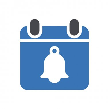 Calendar bell  icon for website and Apps design and desktop envelopment, development and Printing. Premium pack. icon