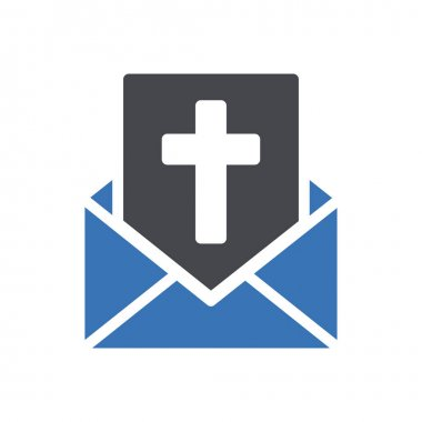 Easter message icon for website and Apps design and desktop envelopment, development and Printing. Premium pack. icon