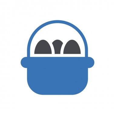 Egg basket icon for website and Apps design and desktop envelopment, development and Printing. Premium pack. icon