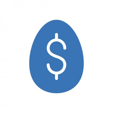 Dollar egg icon for website and Apps design and desktop envelopment, development and Printing. Premium pack. icon