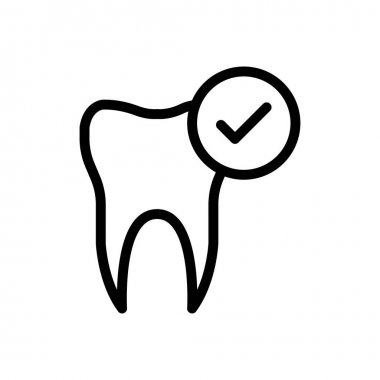 Teeth mark  icon for website and Apps design and desktop envelopment, development and Printing. Premium pack. icon