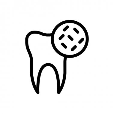 Teeth germs icon for website and Apps design and desktop envelopment, development and Printing. Premium pack. icon