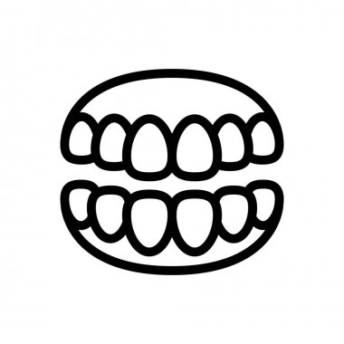Teeth icon for website and Apps design and desktop envelopment, development and Printing. Premium pack. icon