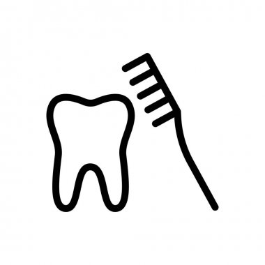 Toothbrush icon for website and Apps design and desktop envelopment, development and Printing. Premium pack. icon