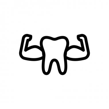 Strong teeth icon for website and Apps design and desktop envelopment, development and Printing. Premium pack. icon