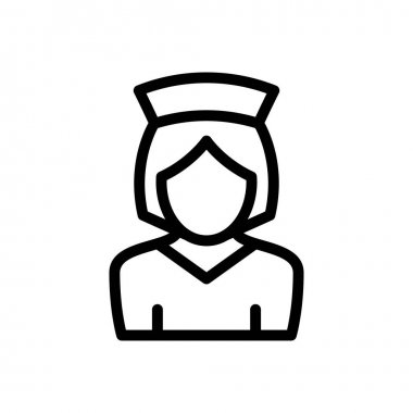 Nurse icon for website and Apps design and desktop envelopment, development and Printing. Premium pack. icon