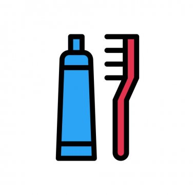 Toothpaste icon for website and Apps design and desktop envelopment, development and Printing. Premium pack. icon