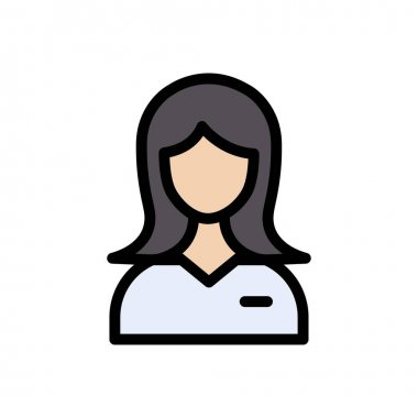 Girl icon for website and Apps design and desktop envelopment, development and Printing. Premium pack. icon