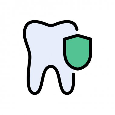 Teeth security icon for website and Apps design and desktop envelopment, development and Printing. Premium pack. icon