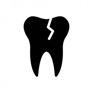 Teeth broken icon for website and Apps design and desktop envelopment, development and Printing. Premium pack. icon