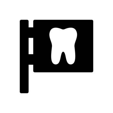 Dentist board icon for website design and desktop envelopment, development. Premium pack. icon