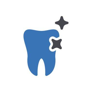 Teeth shine icon for website design and desktop envelopment, development. Premium pack. icon