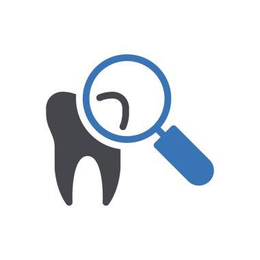 Glass teeth icon for website design and desktop envelopment, development. Premium pack. icon