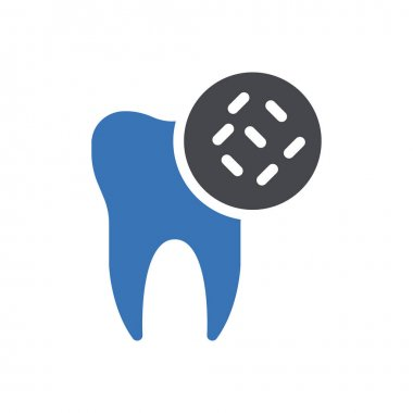 Teeth germs icon for website design and desktop envelopment, development. Premium pack. icon