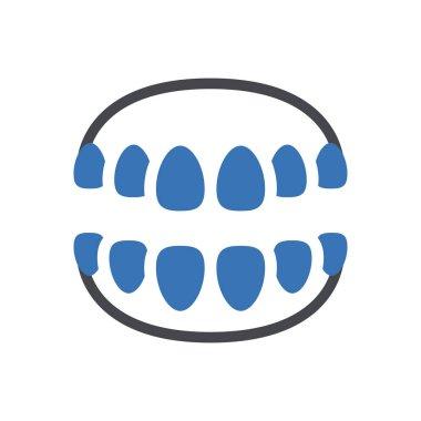 Teeth icon for website design and desktop envelopment, development. Premium pack. icon