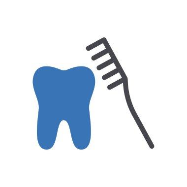 Toothbrush icon for website design and desktop envelopment, development. Premium pack. icon