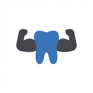 Strong teeth icon for website design and desktop envelopment, development. Premium pack. icon