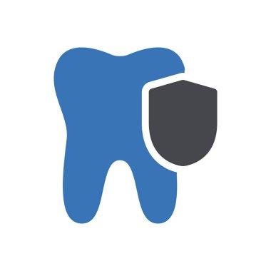 Teeth security icon for website design and desktop envelopment, development. Premium pack. icon