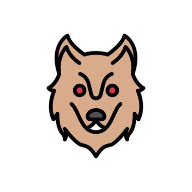 Wolf icon for website design and desktop envelopment, development. Premium pack. icon