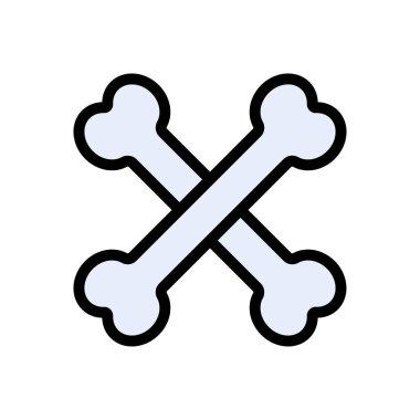 Bone cross  icon for website design and desktop envelopment, development. Premium pack. icon